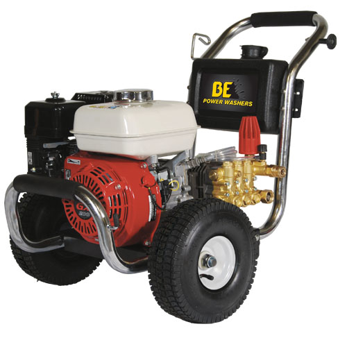 BE Pressure PE2565HWSCAT Stainless Steel Cold Water Pressure Washer Honda Engine 2500psi 3gpm