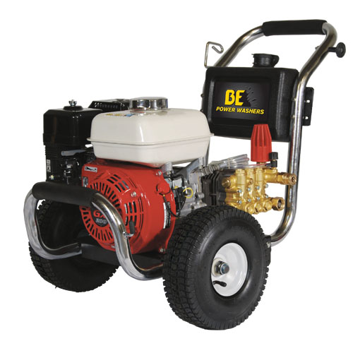 BE Pressure PE2565HWSCOMSP Stainless Steel Cold Water Pressure Washer Honda Engine 2500psi 3gpm