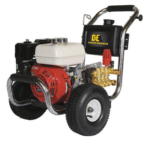 BE Pressure PE2565HWSGEN Stainless Steel Cold Water Pressure Washer Honda Engine 2500psi 3gpm