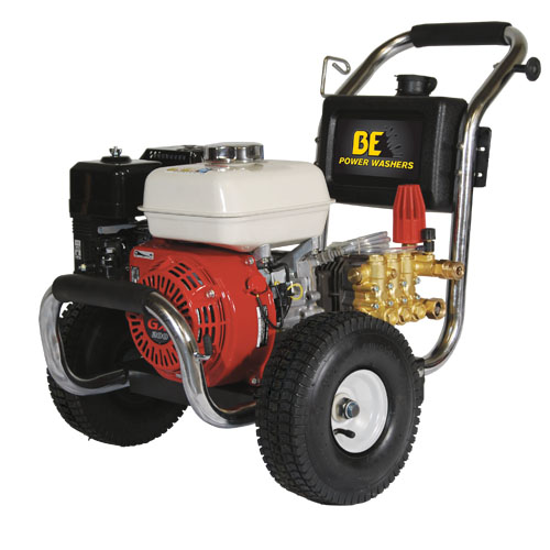 BE Pressure PE2565HWSGENSP Stainless Steel Cold Water Pressure Washer Honda Engine 2500psi 3gpm