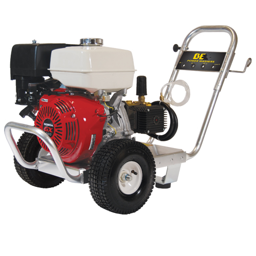 BE Pressure PE-4013HWPACAT Aluminum Frame Cold Water Pressure Washer Honda Engine 4000psi 4gpm