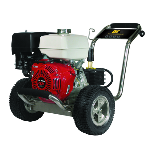 BE Pressure PE4013HWPSGEN Stainless Steel Cold Water Pressure Washer Honda Engine 4000psi 4gpm