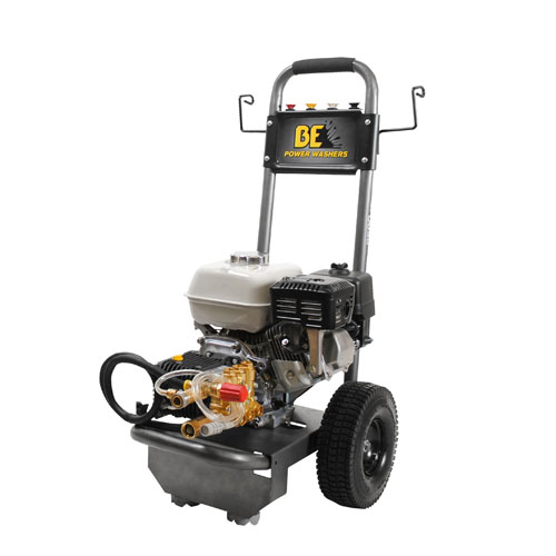 BE Pressure Supply B2565HGS B-Frame Pressure Washer 2500psi 3gpm Honda gas engine