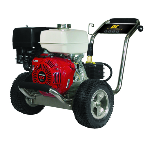 BE Pressure PE-2565HWSCOM Stainless Steel Cold Water Pressure Washer Honda Engine 4000psi 4gpm