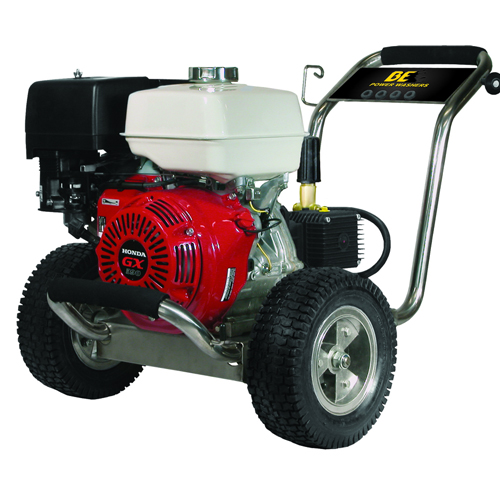 BE Pressure PE4013HWPSCOMZ Stainless Steel Cold Water Pressure Washer Honda Engine 4000psi 4gpm