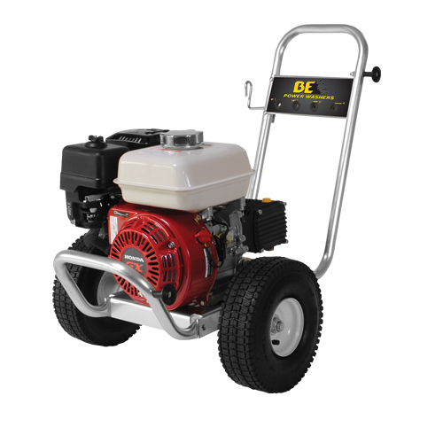 BE Pressure PE-2565HWAGENSPT Aluminum Frame Cold Water Pressure Washer Honda Engine2500psi 3gpm