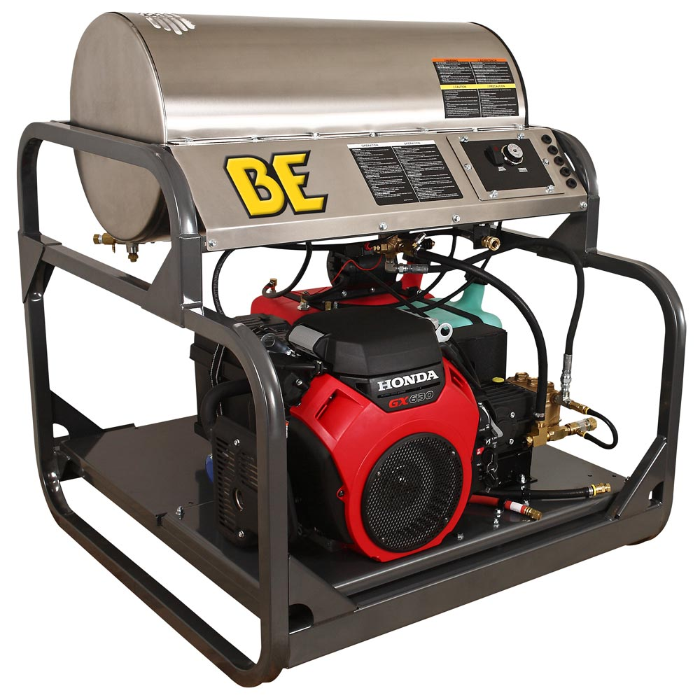 BE Pressure HW3524HEGD 688cc Honda GX630 3500psi 5gpm HOT Pressure Washer Skid (Back order Line is currently being reworked)