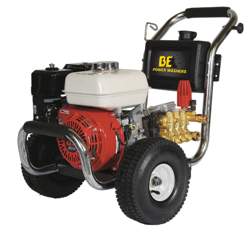 BE Pressure PE-2565HWSCOM Stainless Steel Cold Water Pressure Washer Honda Engine 2500psi 3gpm