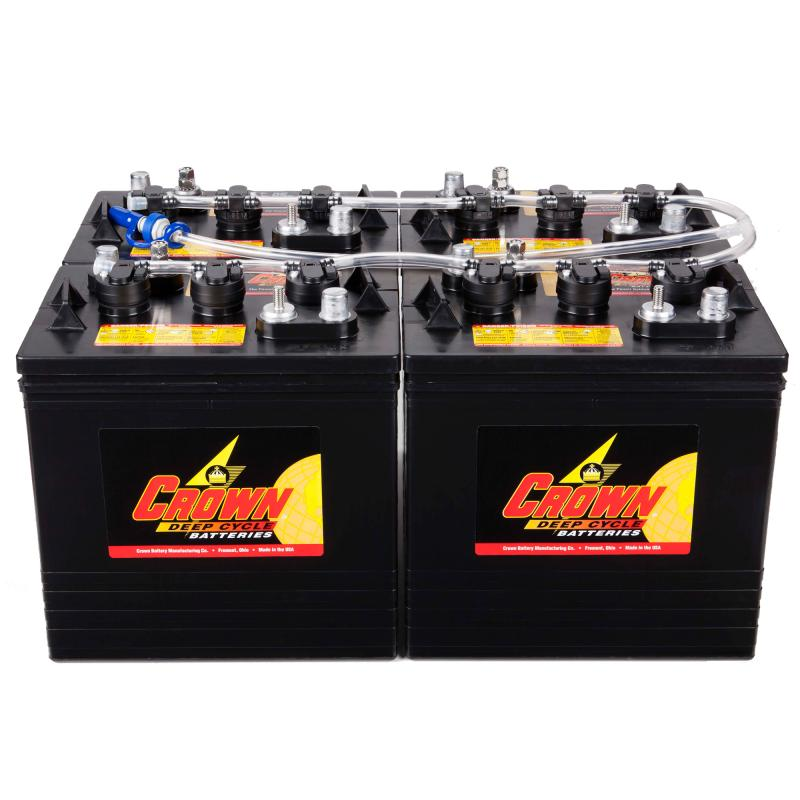 IPC Eagle CR-BWS-L-4 Battery Watering System, for large size batteries, 4 Batteries - 12V210, 6V240, 6V325