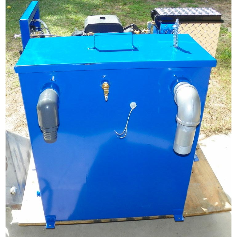 Blue Baron 60 Gallon Vacuum Recovery Aluminum Waste Tank 60GRT Powder Coated
