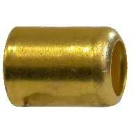 "Brass Ferrule .593 inches X 1 inches Long X .025 Gauge Common for 1/4"" ID Hose 32561"