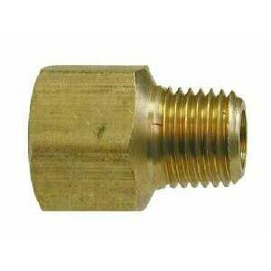 "1/4"" Mip X 3/8"" Fip Brass Adapter Reducing"