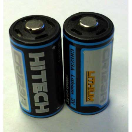 Twin Package of Lithium CR123A Batteries for Photos and Flashlights 2 Units