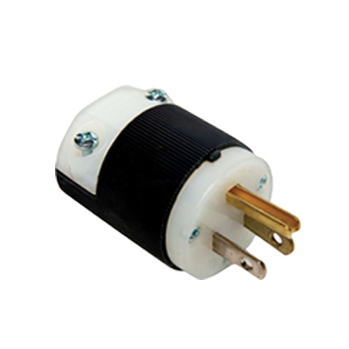 Century PK515P Hubbell HBL5965VY Black Replacement NEMA 5-15P Male Electrical Plug To Repair Power Extension Cords 8.663-448.0 (or similar)