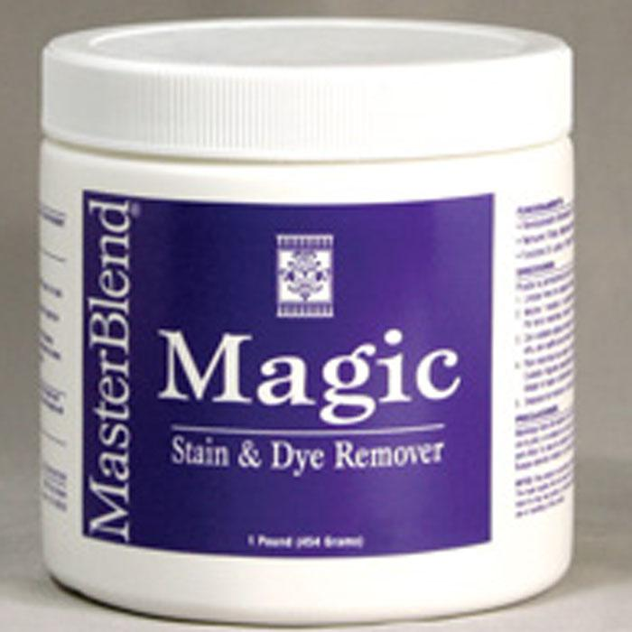 MasterBlend 185202 Magic Stain & Dye Remover  (Case of 12 one lb jars) UPC 672835185216
