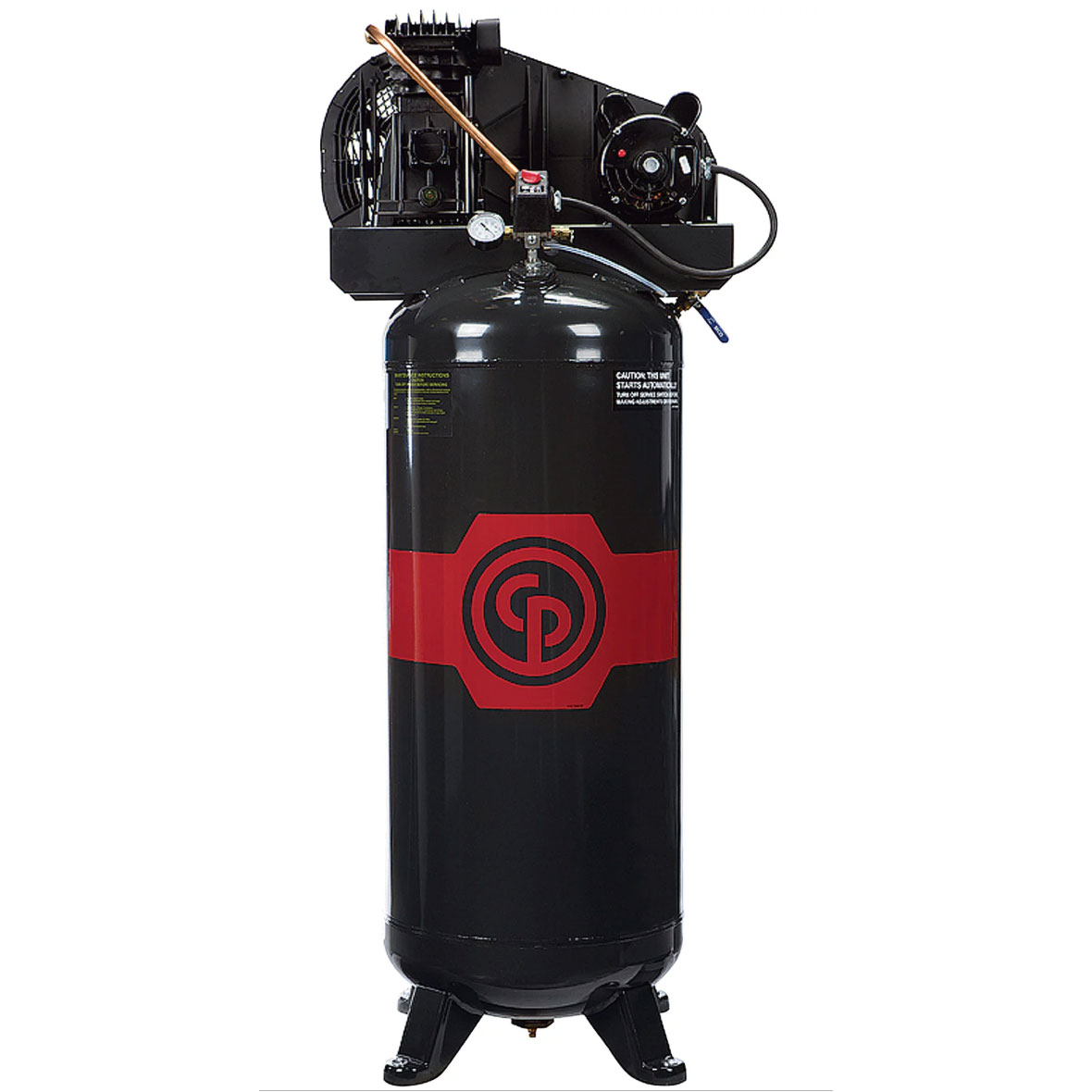 Chicago Pneumatic Reciprocating 8090254049 Air Compressor 3.5 HP, 60 Gallon, 208/230 Volt, 1-Phase FREE Shipping 110520 130psi 12.3cfm