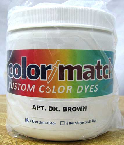 Color Match Carpet Dye - Apartment Dark Brown - 1LB D15A-1D