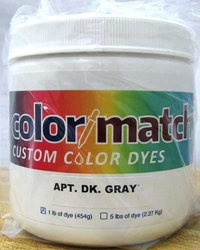Color Match Carpet Dye - Apartment Dark Gray - 1LB [D16D-1D]  CR7709