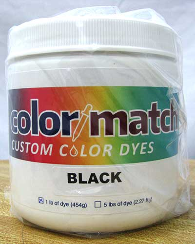 Color Match Carpet Dye - Black - 1LB [D17-1D]  CR7719