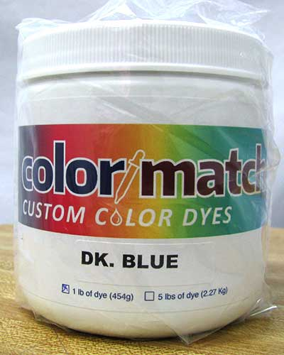 Color Match Carpet Dye - Dark Blue - 1LB #CD15