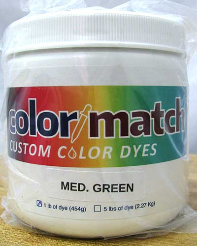 Color Match Carpet Dye - Medium Green - 1LB D08A-1D