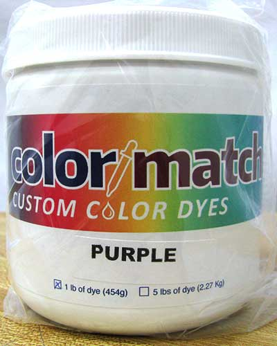 Color Match Carpet Dye - Purple No27 - 1LB