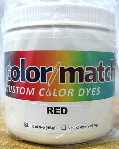 Color Match Carpet Dye - Red - 1LB D01-1D
