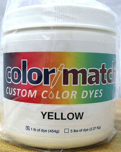 Color Match Carpet Dye - Yellow - 1LB D07-1D