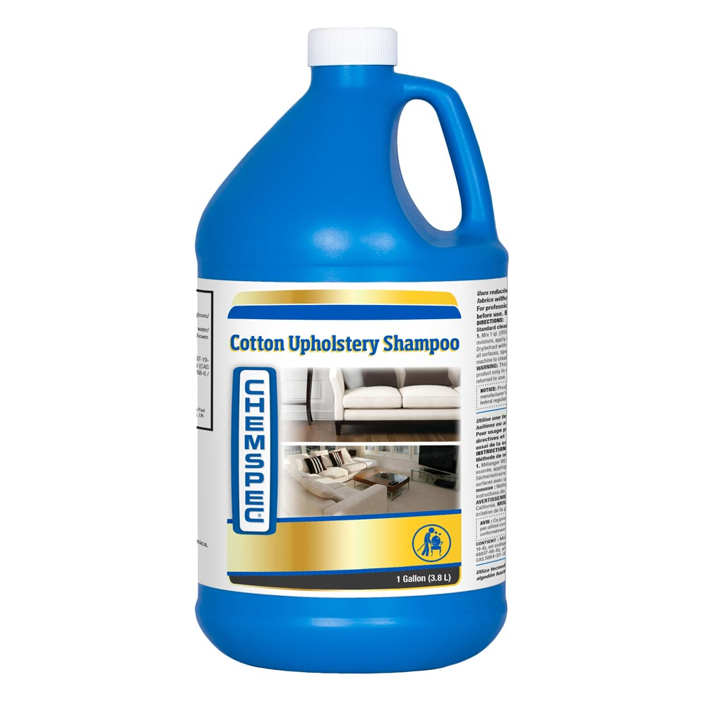 Chemspec C-HCUS4G Cotton Upholstery Shampoo (4x1 Gallon Case) Sapphire Scientific 76-190 Natural Fiber Cleaner FREE Shipping