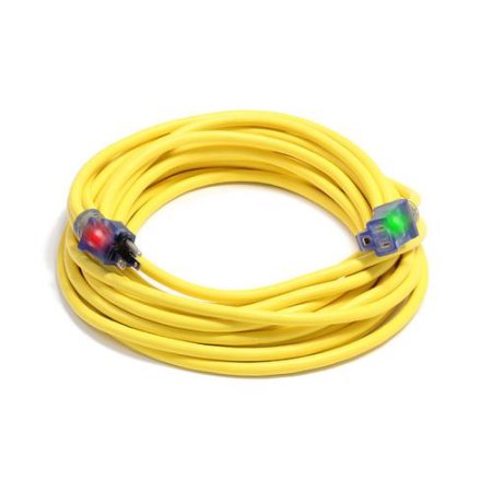 Extension Power Cord 10-3 X 50 ft 10/3awg Cgm Sjtw Lighted Ends D17003050 5-15P X 5-15R Century Wire Pro Glo 862122