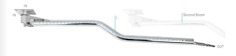 Mosmatic Ceiling Boom with LED DKZbl 65.209 4 ft 9 in X 14 ft X 34 in