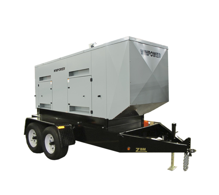 Winco DX250 Mobile Diesel Electrical Generator with Trailer 1800rpm FREE SHIPPING [DX250]