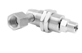 Mosmatic 37.453 90° Swivel with bulkhead fitting, Ceramic DXG-90° 3/8 in. NPT F 3/8 in. NPT M