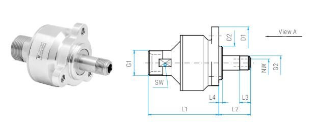 Mosmatic 55.220 Swivel Inline, Carbide DYW M21x1.5M M12x1 M