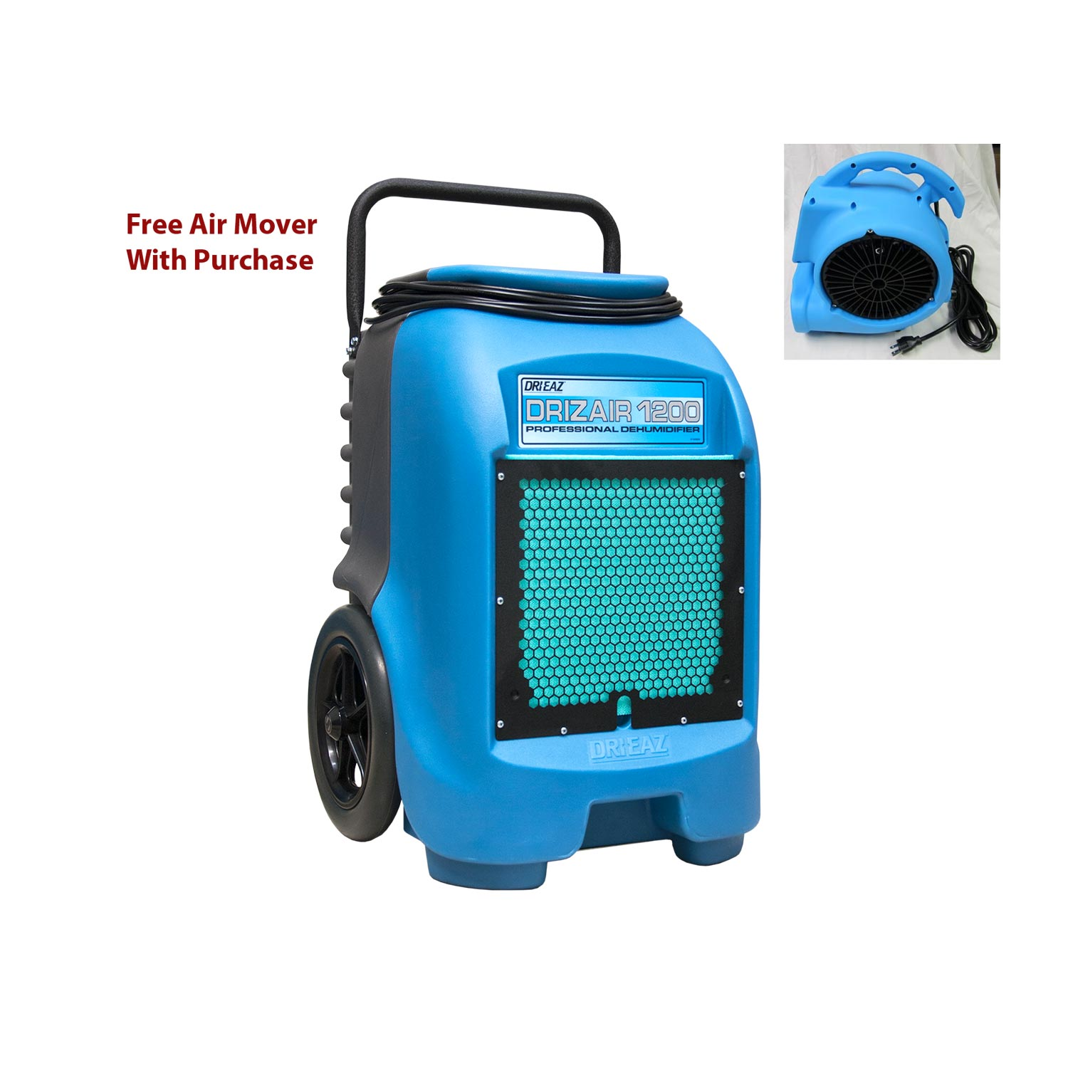 Drieaz F203-A Drizair 1200 Industrial Restoration Dehumidifier Use Promo Code 5%OFF FREE Air Mover FREE Shipping F203A