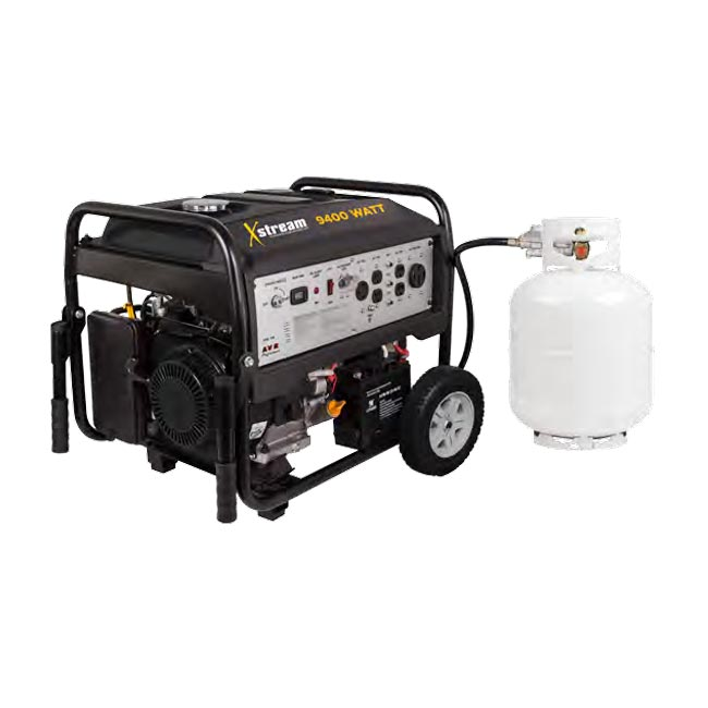 BE Pressure XStream BE9400DFS Dual Fuel 9400 Watt Generator 459cc Gas and Propane