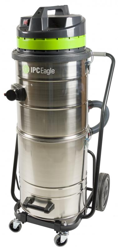 IPC Eagle S9NEV640TIP Industrial Vac, Split Tank, 3 Flow. Includes 2 in. 3 piece chrome wand, hose and bristle floor tool