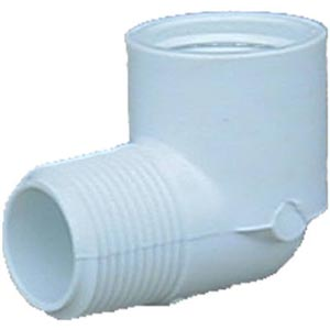 PVC White Plastic 90 Elbow 1.5 in Mip X 1.5 in Fip