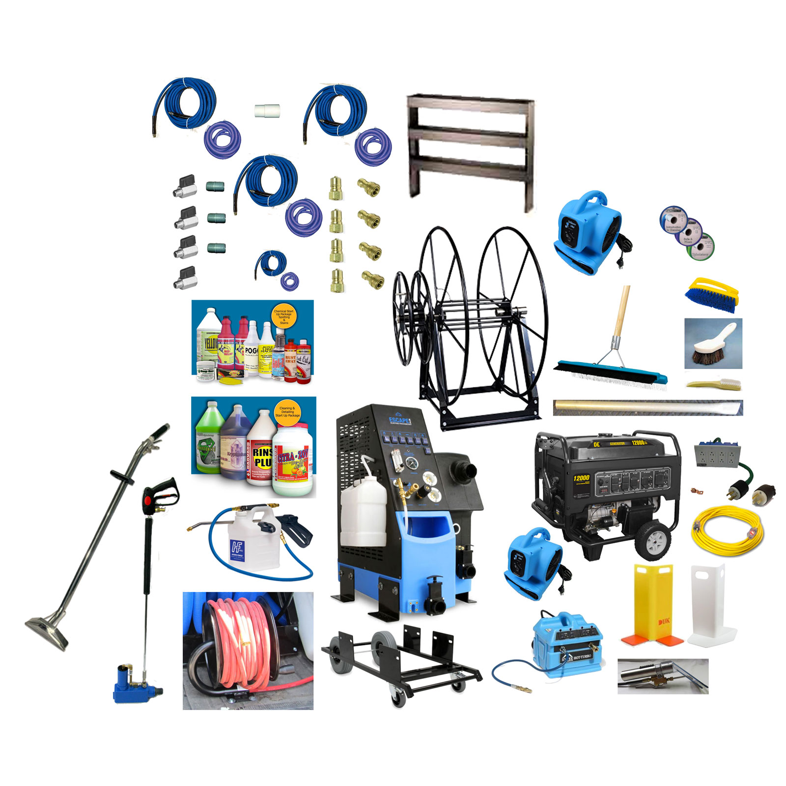 Mytee ETM-LX-PLUS Escape Quad 6.6 LX Vacs 600Psi Electric TruckMount Starter Package Tools Wands Generator 96234815