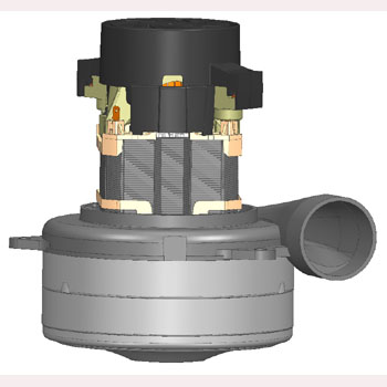 Electro Motor Q6600-084A-MP-26 Mytee C302A 3 stage 120V Conical Bottom Fan Vacuum High Performance Vacuum Lmb2a