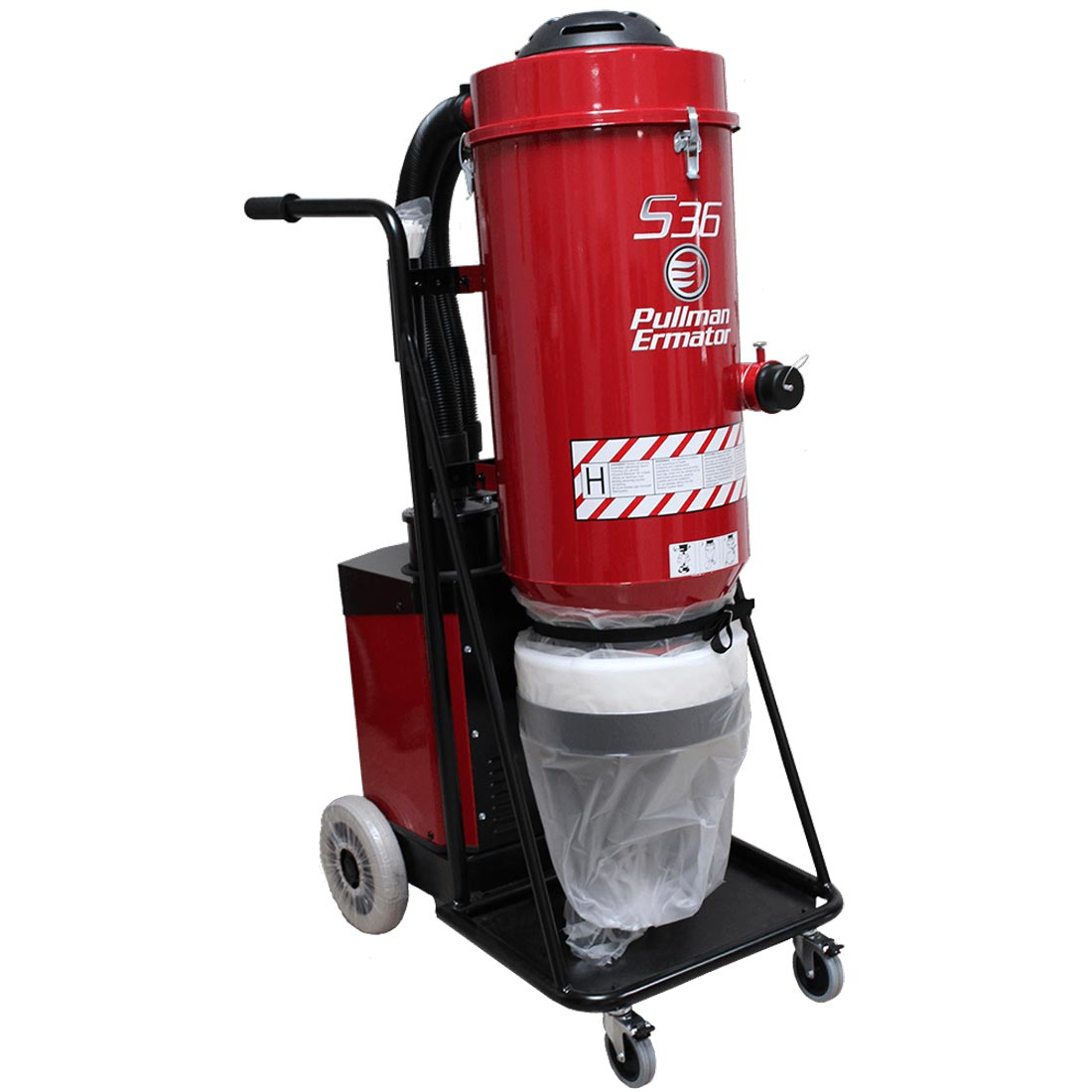 Demo Husqvarna Pullman Ermator S36 Hepa Vacuum 240V 14Amp 353Cfm Dust Collector 967753601 967663802B Used S 36 B Rated