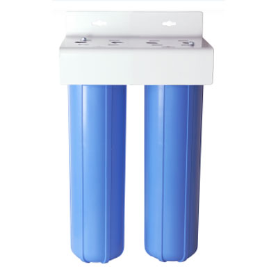 Clean Storm Water Recycling Extra Large Dual 20in Filter Housing X 1in Fip connection 20170201