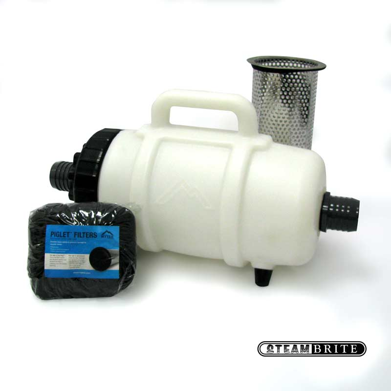 Mytee F200B: Lint Hog Hose Mount Lint Filter with 2 inch barbed inlet for vacuum hose
