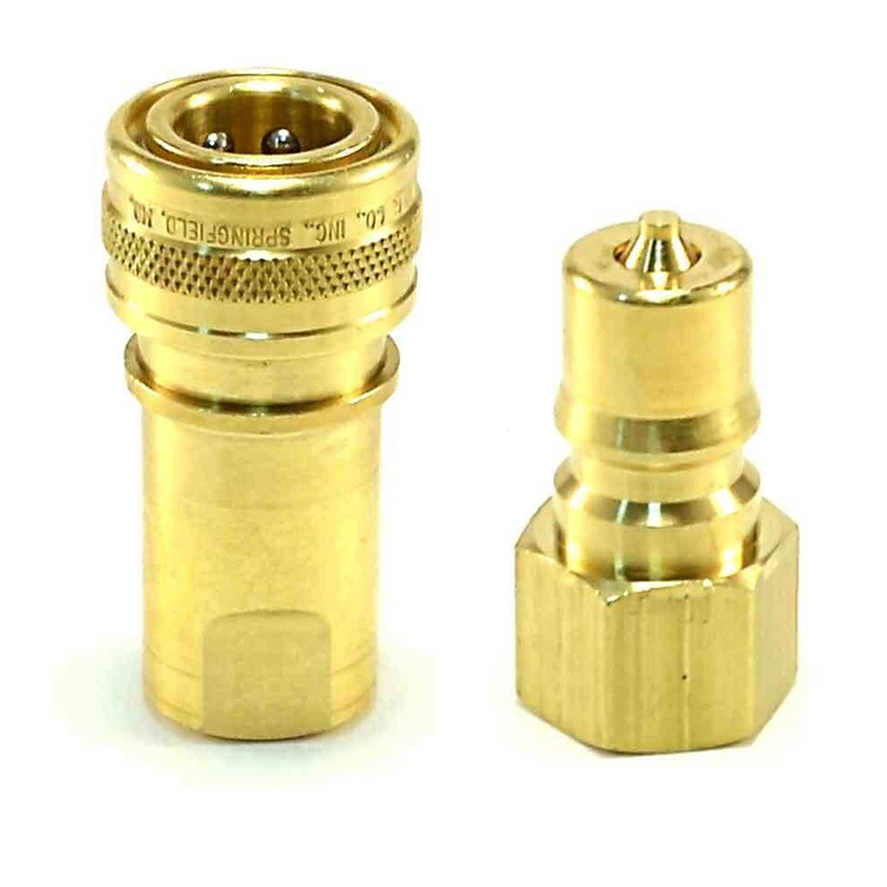 Foster FK2BH2B QD 1/4in Male/Female Set Brass Quick Disconnect Used for Carpet and Tile Cleaning