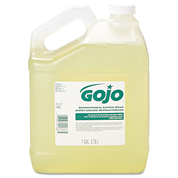 GOJ 1887-04 GOJO® Antimicrobial Lotion Soap 4/1 Case Gallons