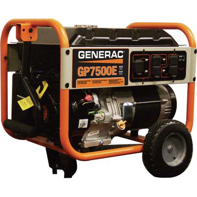 Generac 5943 GP Portable Generator 9375 Surge Watts, 7500 Rated Watts, Electric Start, 420cc Model# 167222