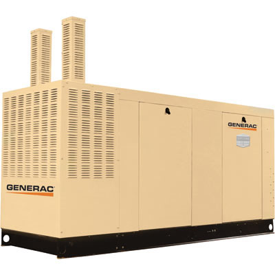 Generac Commercial Series Liquid-Cooled Standby Generator 80 kW, 240/480 Volts, NG, Model# QT08046KNSN-167299NGC