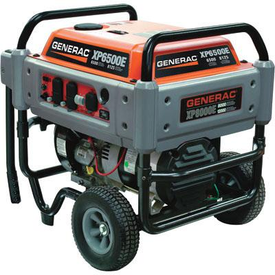 Generac XP6500E Portable Generator 8125 Surge Watts, 6500 Rated Watts, 410cc Generac OHVI Engine with Electric Start 169137 FREE Shipping