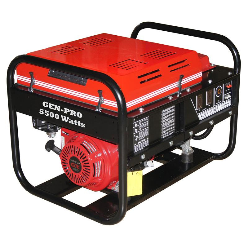 Gillette Generator GPE55EH Industrial Portable Generator 5500watts 120volts electric start gas 270cc