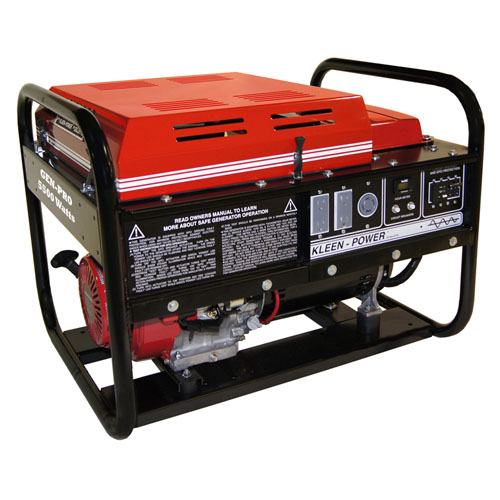 Gillette Generators GPE55H Industrial Portable Generator 5500watts gas 120volts recoil start 9hp